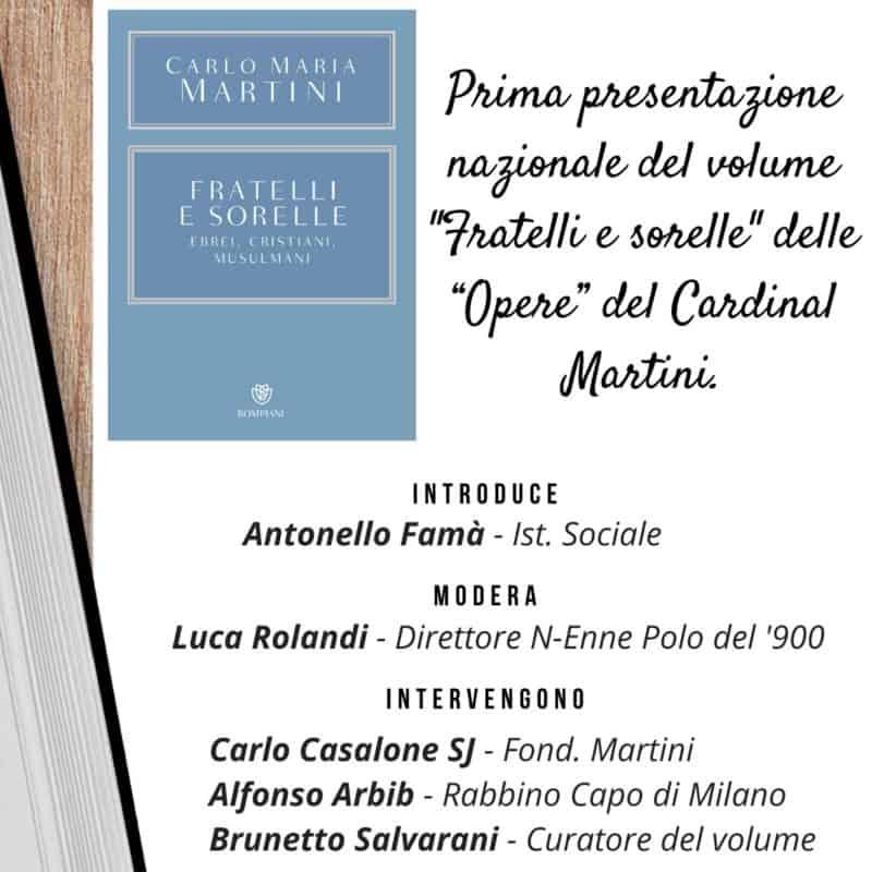"""Il 9 dicembre presentazione on line del volume """"Fratelli e sorelle. Ebrei, cristiani, musulmani"""""""